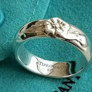 Tiffany And Co Sterling Silver Rose Ring